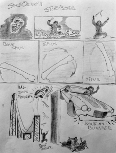 "A section of Corman's storyboards for ""2002."" (click to enlarge)"